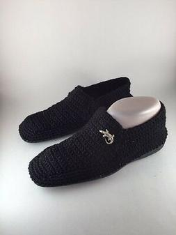 Mexican Mens Handmade Crocheted Knitted Crafted Casual Black