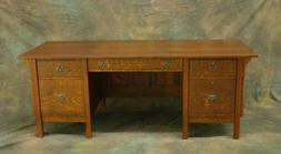 Mission/Arts and Crafts Style Executive Desk, Free Delivery,