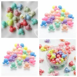 Mixed AB Pastel Color Mickey Mouse Acrylic Pony Style Beads