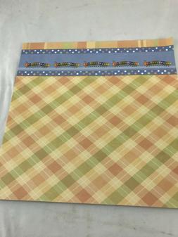 Multi Color Plaid Caterpillar Scrapbook Craft Paper