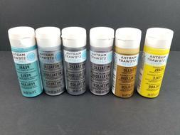 Martha Stewart Multi Surface Acrylic Craft Paint 2 oz, New,
