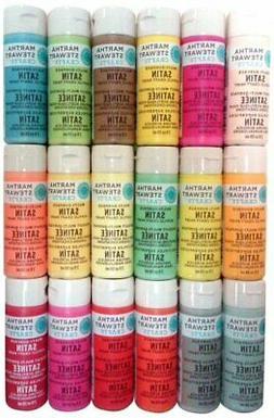 Martha Stewart Crafts Multi-Surface Satin Acrylic Paints! 18