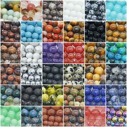 "Natural Gemstone Beads Round 4mm 6mm 8mm 10mm 12mm 15.5"" Str"