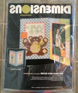 Needlepoint Baby's Teddy Kit Dimensions 2170 Record Name Nee