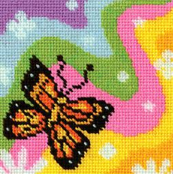 Needlepoint Mini Kit ~ Design Works Bright & Colorful Butter