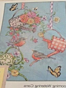 NEW Dimensions BLOOMING WATERING CAN Cross Stitch KIT Embroi