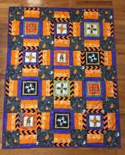 New Handmade Quilt Blanket Throw 100% Cotton  Halloween Witc