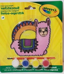 New in Package Crayola Paint Your Own Suncatcher Llama Plast
