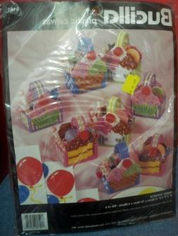 NIP 1995 Bucilla Plastic Canvas Kit Candy Baskets Valentines