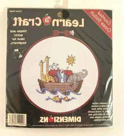 NIP Dimensions Learn a Craft Counted Cross Stitch Kit Noah #
