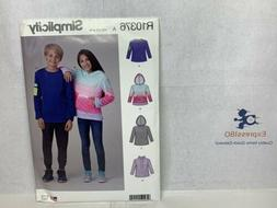 SIMPLICITY SEWING PATTERN R10376 / S9028 BOYS & GIRLS TOPS