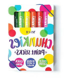 Ooly Chunkies Paint Sticks 12 Pack | No Mess Paint Sticks fo
