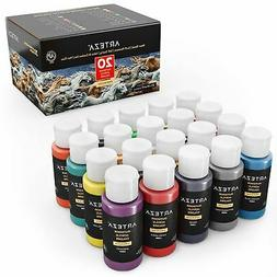 ARTEZA Outdoor Acrylic Paint, 59ml Bottles - Set of 20