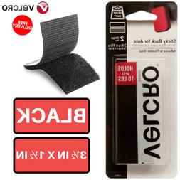 Pack Of 2 Black Strips 3.5 in x 1.5 inch Velcro Brand For Au
