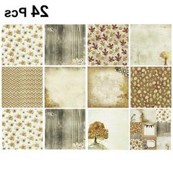 Pack of 24 Scrapbook Paper Backing Paper Pads for Album Gift
