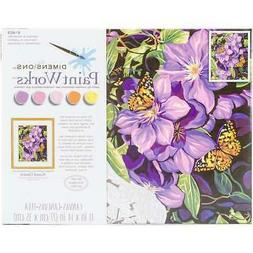 "Paint Works Paint By Number Kit 11""X14"" Clematis & Butterfli"