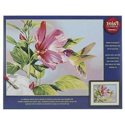 """Paint Works Paint By Number Kit 14""""X11"""" Hibiscus Hummingbird"""