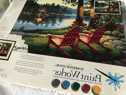 "Dimensions Paint Works Paint By Number Kit Adirondack 16"" X"