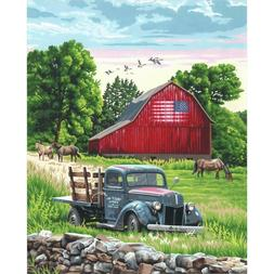 """Dimensions Paint Works Paint By Number Kit Summer Farm 16"""" X"""