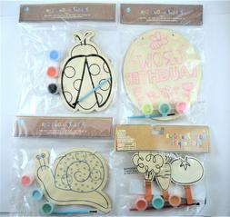 Paint Your Own Sign Kids Wood Kids Art & Crafts Snail Ladybu