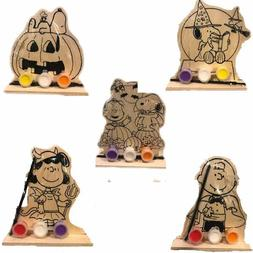 Peanuts Paint Your Own Wooden Standee Set - Halloween Craft