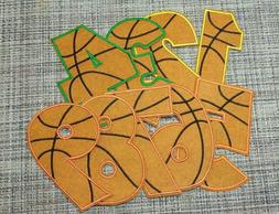 Patch Birthday 1-9 Year Old Embroidered Applique Basketball