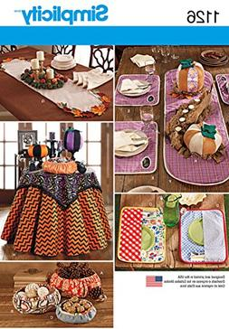 SIMPLICITY Patterns 1126 Table Accessories, One Size