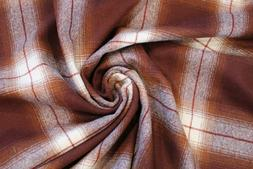 Pendleton Burgundy and Cream Large Plaid flannel Fabric By T