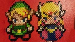 Handmade Perler Art - Legend of Zelda Minish Cap - Zelda and