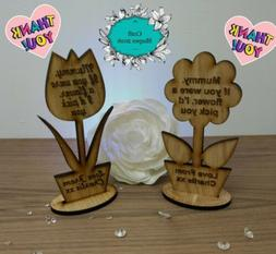 Personalised Mothers Day Gift Mothers Day Flower Mum Mummy N