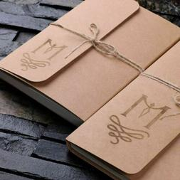 Personalized 2pc Craft Journal Notebook Diary with Twine -Ad