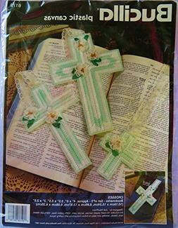 Bucilla Plastic Canvas Crosses Bookmarks-Set of Three