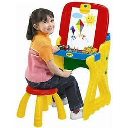 Crayola Play 'N Fold 2-in-1 Art Studio Easel Desk With Stool