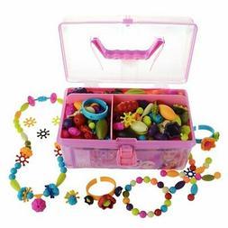Pop Beads Kids Arty Toy Creative DIY Jewelry Set- Girls Neck