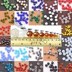 Quality Czech Glass Faceted Round Ball Spacer Loose Beads 3M