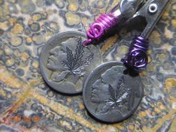 Random Hand Made Cannabis Leaf Pink Purple Reefer Indian Hea