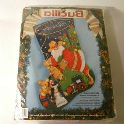 rare western santa felt stocking kit 83009