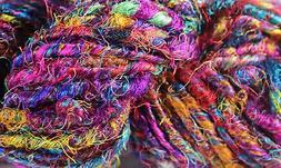 Recycled Sari Silk Yarn - Multicolor