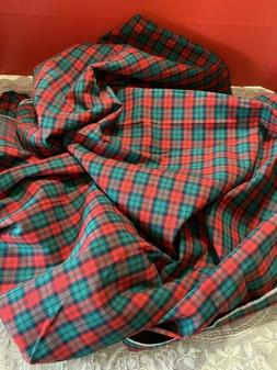 """Red, Green Plaid ,7 Yds X  36"""" W, Cotton, Quilt,Crafts, Fa"""