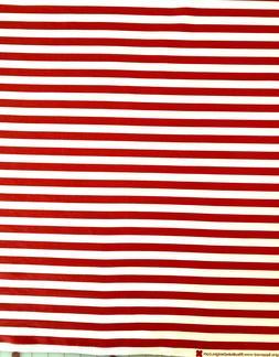 Riley Blake Red White Stripe Cotton Fabric Crafts, Apparel,