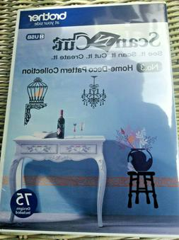 BROTHER SCAN N CUT HOME DECO PATTERN COLLECTION-NO 3-NIB 75
