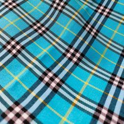 Scotch Large Plaid Woven Cotton Fabric Famous Designer Fabri