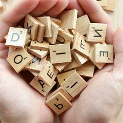 SCRABBLE WOOD TILES 100-500 Pieces Full Sets Letters Wooden