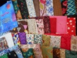 "Scrap Cotton Fabrics For Mask/Crafts, About 9"" x 11""  12 Pcs"