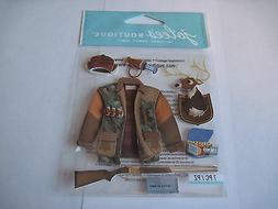 Scrapbooking Crafts Jolee's Stickers Hunting Jacket Deer Gun