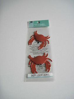 Scrapbooking Crafts Stickers Jolee's Pair Red Crabs 2 Crab S