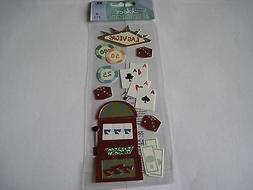 Scrapbooking Crafts Stickers Jolee's Travel Las Vegas Money