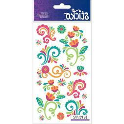 Scrapbooking Stickers Sticko Crafts Colorful Flourishes Flow