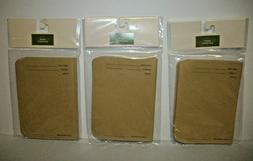 SEED PACKETS ENVELOPES  Brown Craft Paper Seed Storage 3 Pac