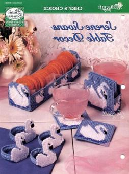 Serene Swans Table Decor ~ Basket Coasters & More plastic ca